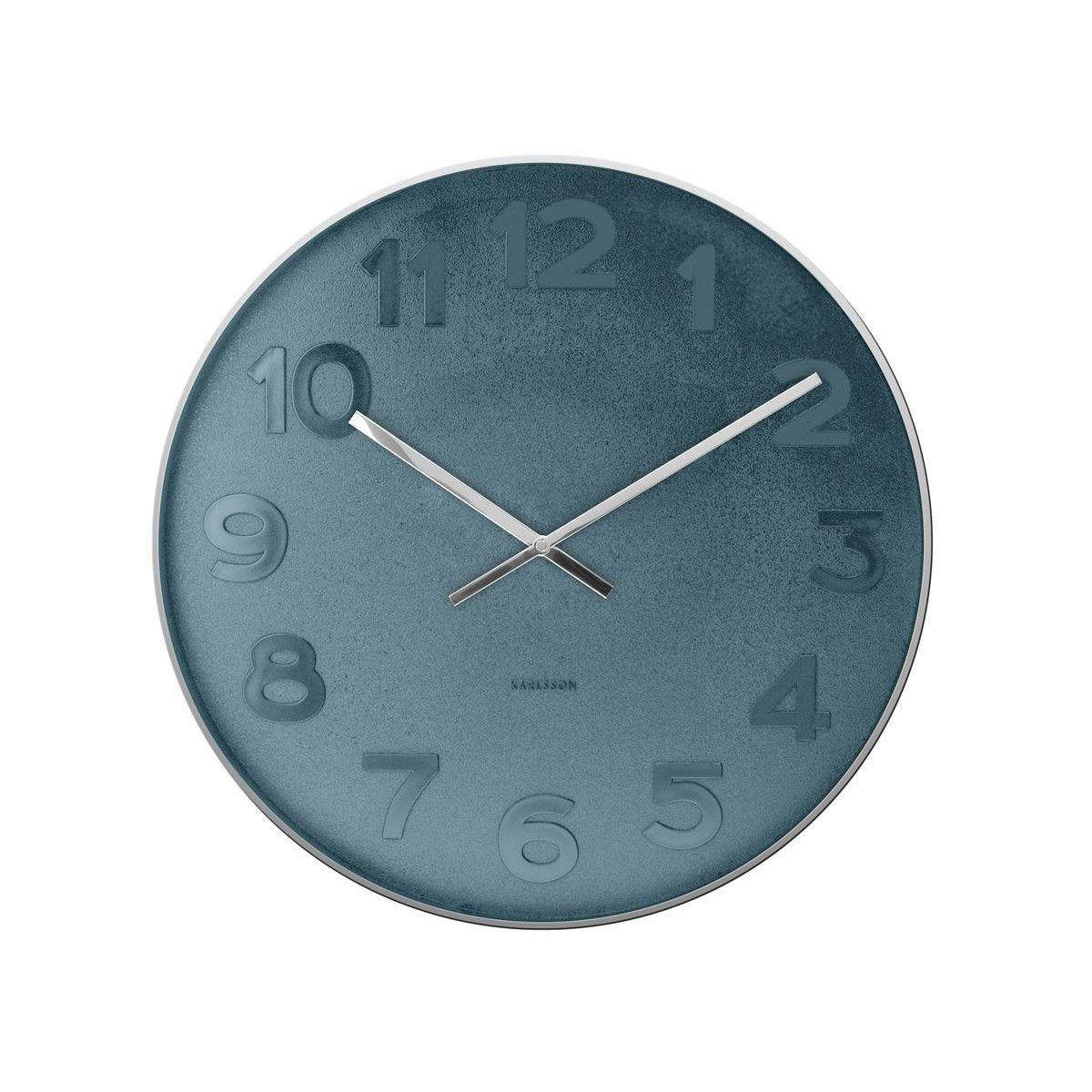 Horloge Mr Black Ronde Bleu Karlsson L51 X H51 Cm En