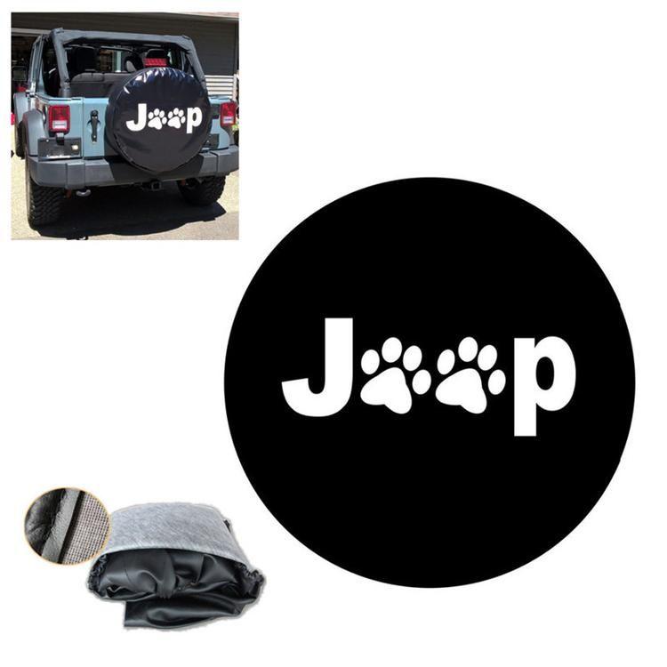 Purple Jeep Paw Prints Animal Lover Jeep Wrangler Camper Spare