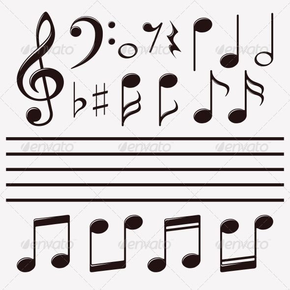 vector icons set music note music pinterest music notes icon rh pinterest com Transparent Music Notes Vector Transparent Music Notes Vector