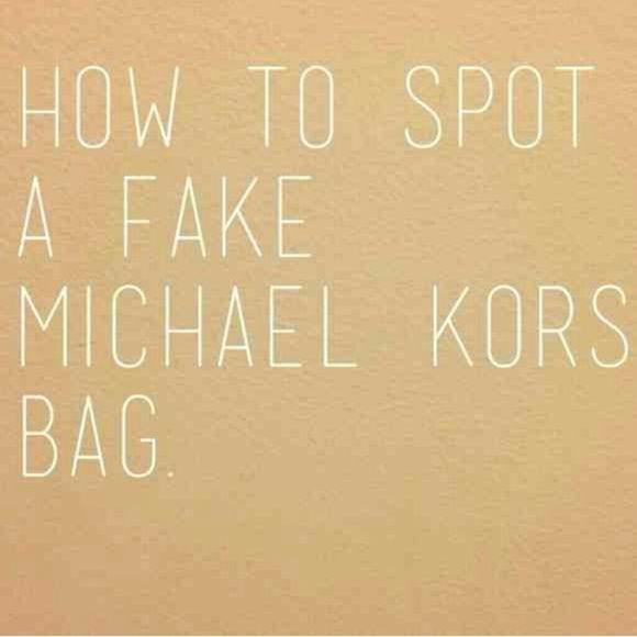 MICHAEL Michael Kors Handbags - How to spot a fake mk bag