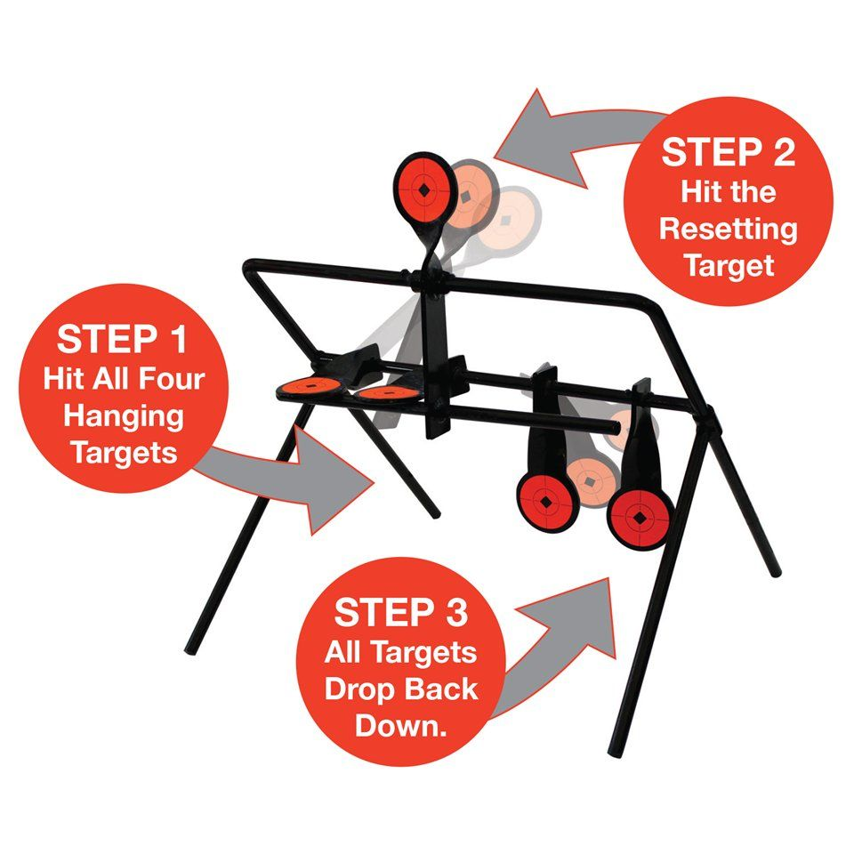 1 Targets Auto Resetting Spinner Shooting Target  Practice Shooting with 4