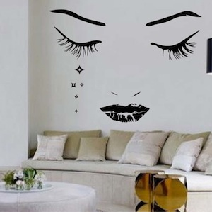 Modern Face Wall Decal Trendy Wall Designs Face Wall Decal Vinyl Wall Art Sticker Wall Art