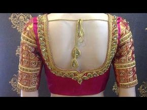98d6bf644f597a new blouse designs 2017-Blouse Back Neck models//Stylish and Trendy Bridal  Blouse Back Neck Design - YouTube