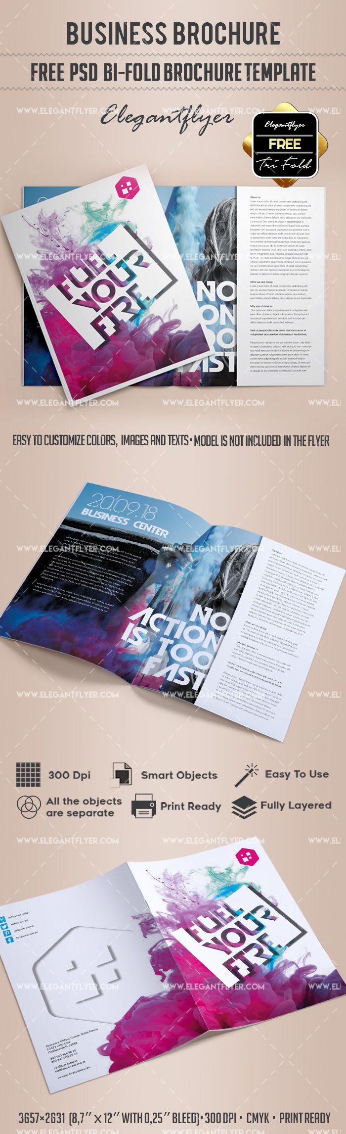 Business Free Bi Fold Brochure Psd Template Free Brochure