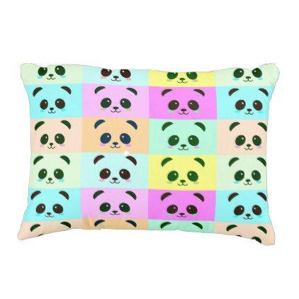 Pop Art Panda Pink Blue Yellow Decorative Pillow Bathroom Idea Fascinating Yellow Decorative Bed Pillows