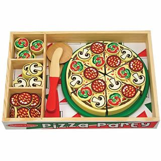 Pizza Party Set Wooden Play Food Play Food Set Pizza Party