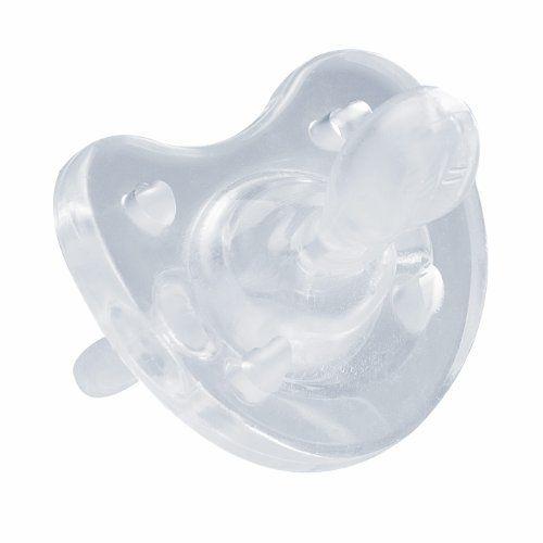 #bebe Chicco 1808000000 – Chupete de silicona (a partir de 0 meses), transparente