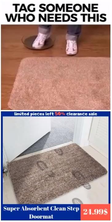 Super Absorbent Clean Step Doormat Video In 2020 Absorbent Cleaning Door Mat
