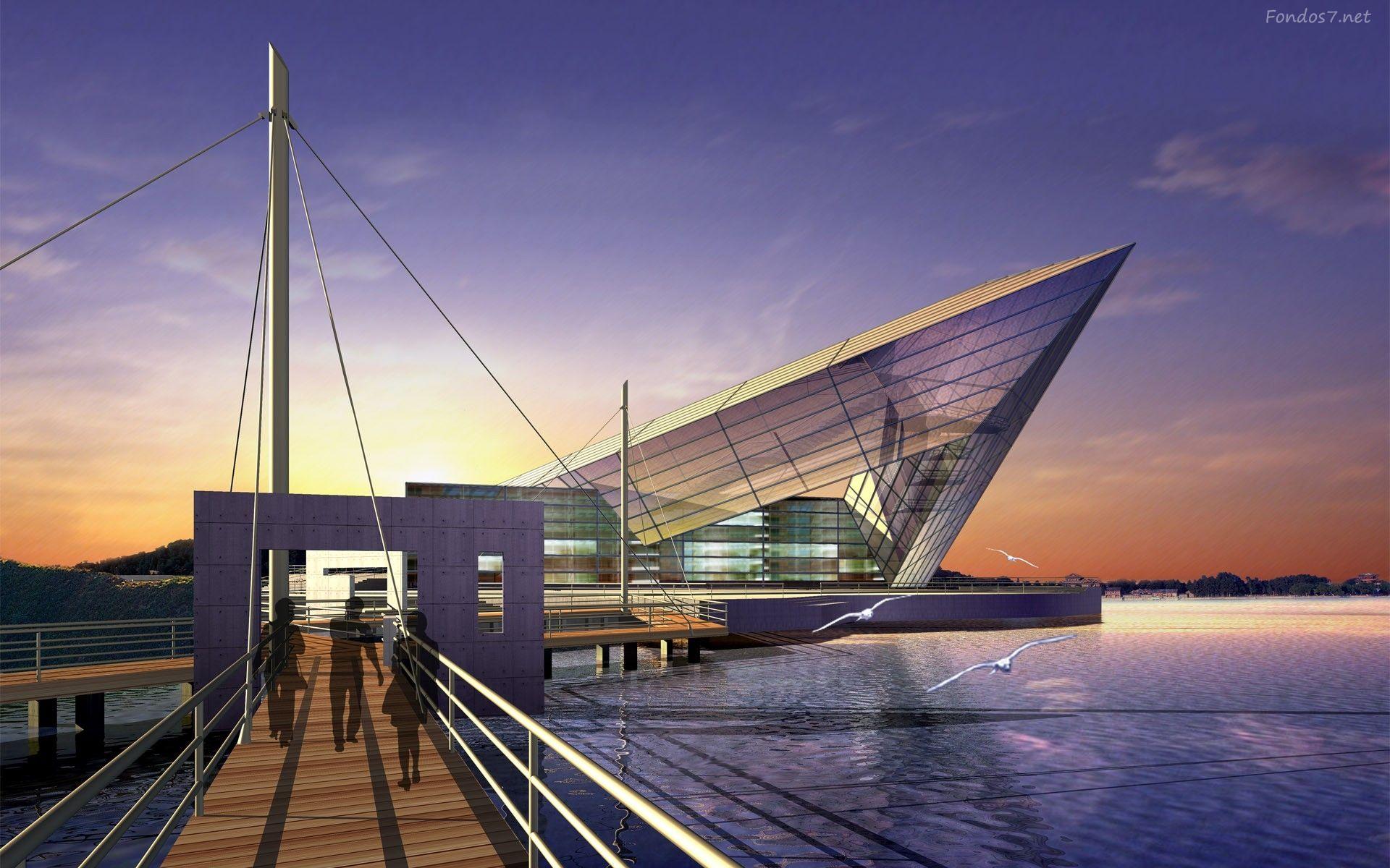 Descargar Fondos De Pantalla Arquitectura 3d Hd Widescreen Gratis