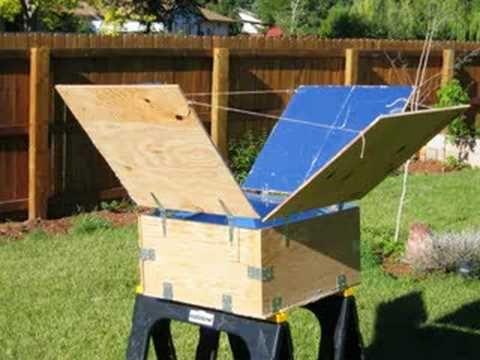 Solar Oven Made Of Wood Foil Solar Oven Solar Cooker Solar
