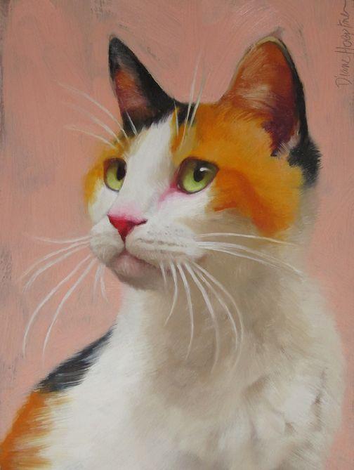 Scarlet by artist Diane Hoeptner Cat art, Pet portraits
