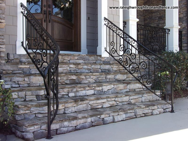 Best Residential Iron Railings Raleigh Wrought Iron Co 400 x 300