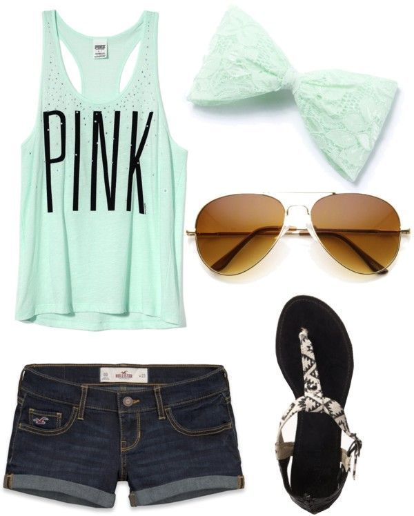 Summer outfits, Cute summer outfits and Denim shorts on Pinterest
