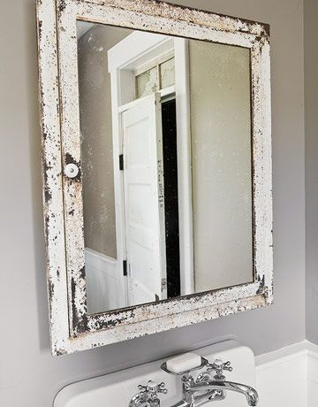 This Vintage Mirrored Medicine Cabinet Can Be An Eclectic Addition To A Modern Bathroom