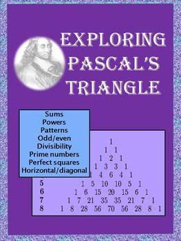 Exploring Pascal S Triangle Free Math Lessons Basic Math Math