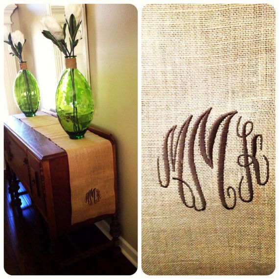 10 ft burlap table runner by Shadsy on Etsy, $38.00