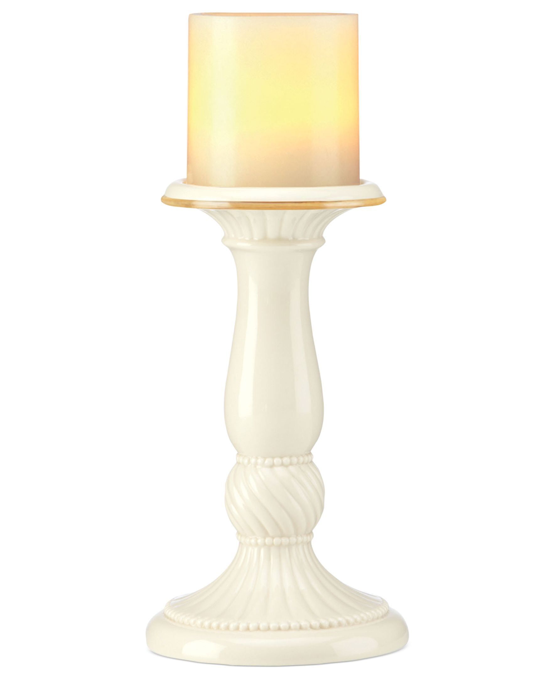 Lenox Candle Holder, Illuminate Pleated Pillar
