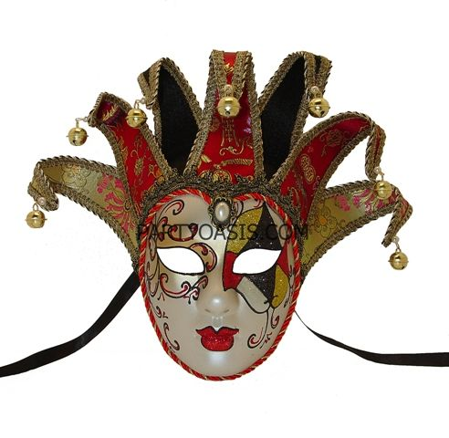 8aeb83332ac Queen Of Hearts Mask | masks in 2019 | Jester mask, Queen of hearts ...