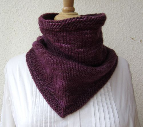 Knitting Pattern Bandana Cowl Knitting Pinterest Knitting
