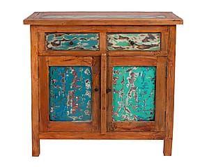 Credenza De Madera Rustica : Credenza a cassetti e ante scorrevoli in legno di acacia