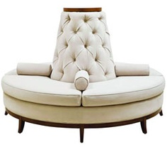 Custom Made Center Round Settee Banquette Sofa In Your Choice Of Fabric Or  Leather U2013 Celebrity Furnishings
