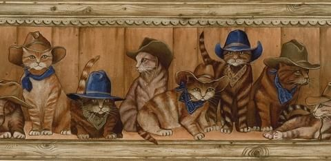 cowboy kittens lol Wallpaper companies, Wallpaper border