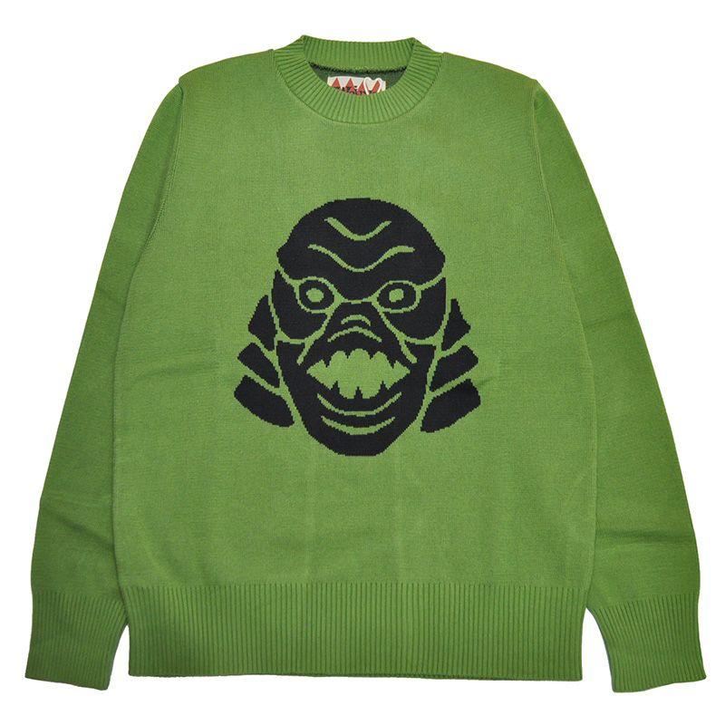weirdo monsters sweater ウィアード モンスターセーター glad hand グラッドハンド の通販ならrezar レサール セーター ウィアード モンスター