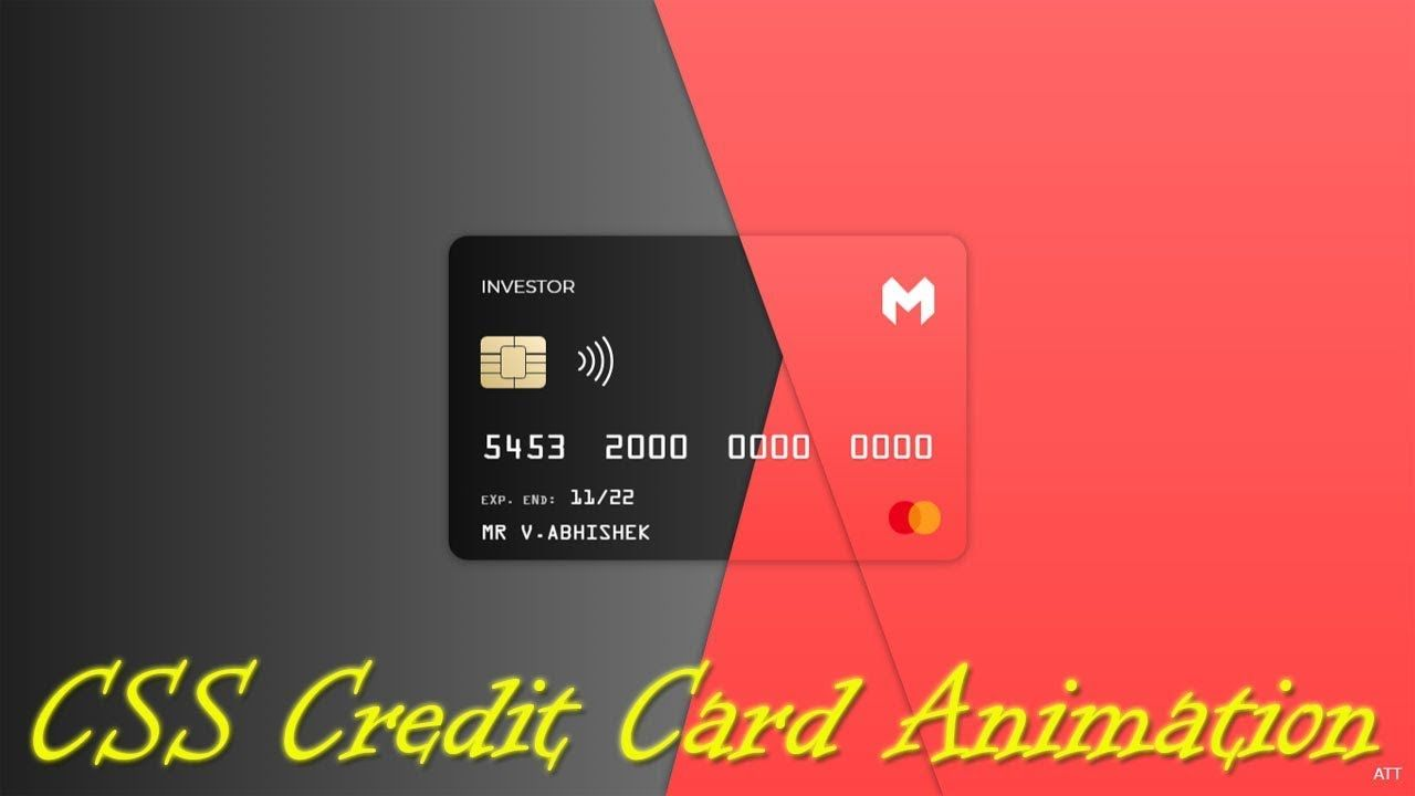 Animated credit card using css animation effects | cool css