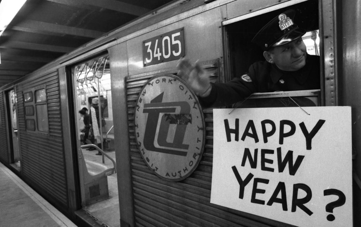 New York City Subway Crime 1970s Photos New York City S Subway Crime Through The Decades New York City Subway Train Happy New Year Signs