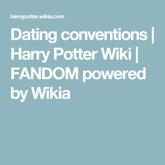 Dating conventions