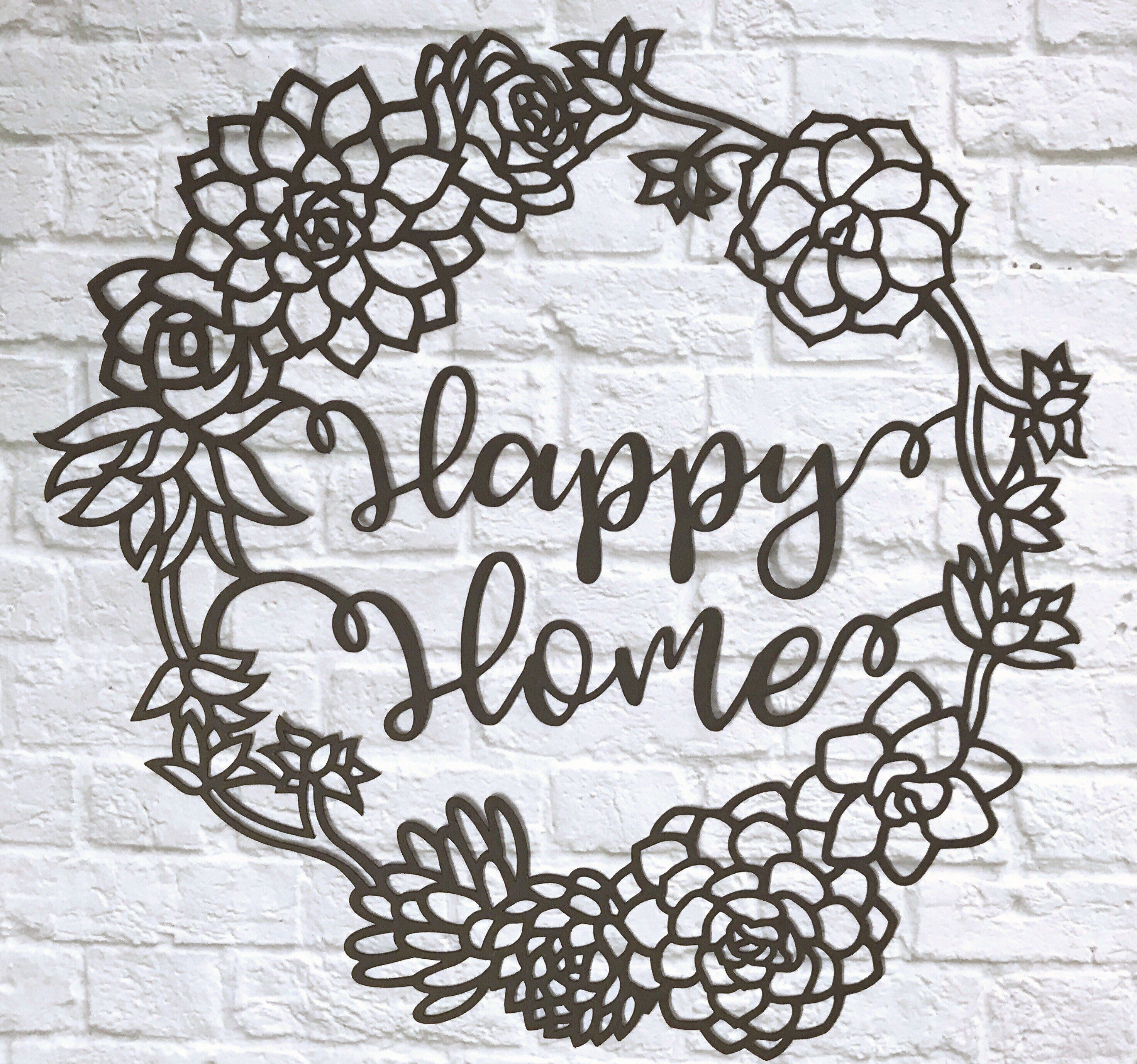 New home gift / happy home papercut / framed / unframed | Forest ...