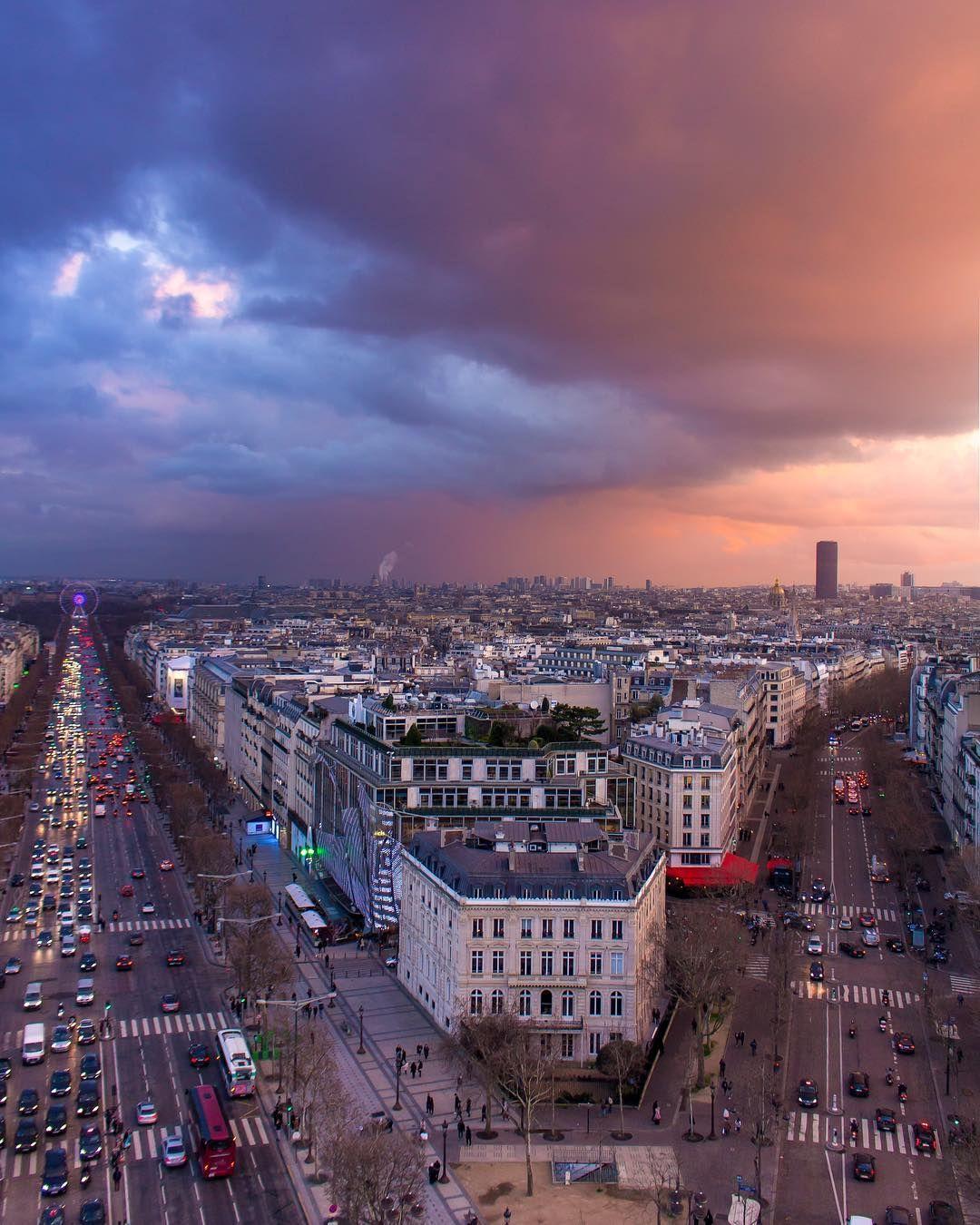 Crazy apocalyptic sky over Paris