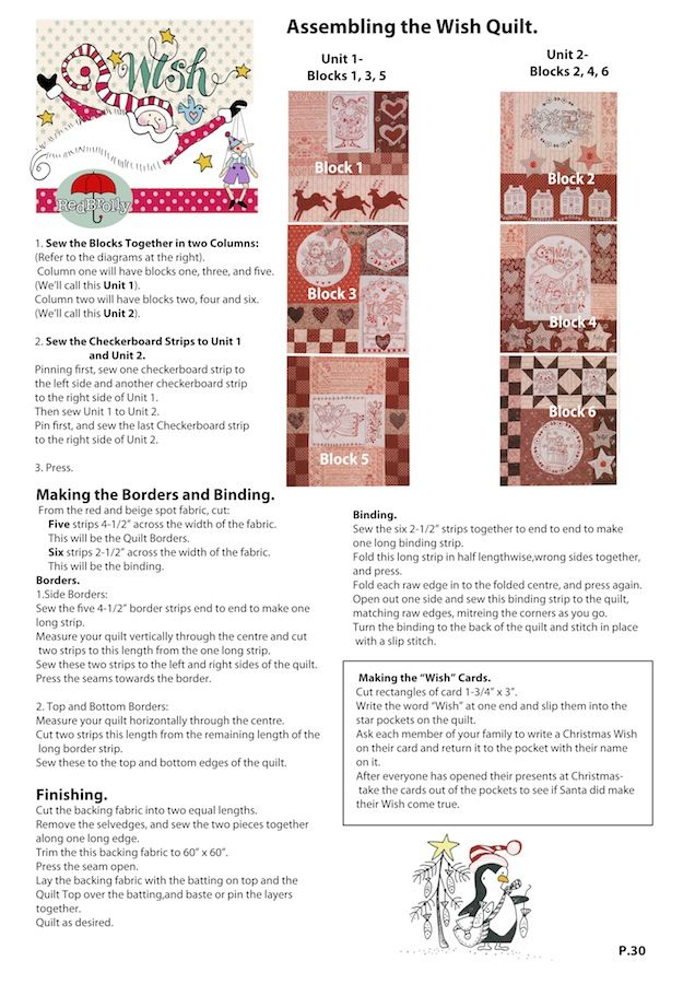 "red brolly free patterns | The Wish"" Patchwork Christmas Quilt 