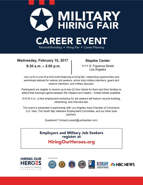 Hiring our heroes career event los angeles ca 21517 job hiring our heroes career event los angeles ca 21517 malvernweather Images
