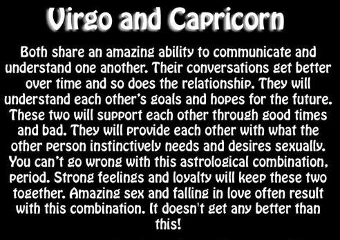 Capricorn male and virgo female in bed