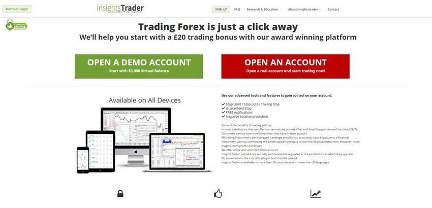 Insightstrader Review Forex Brokers Reviews Uk Financial