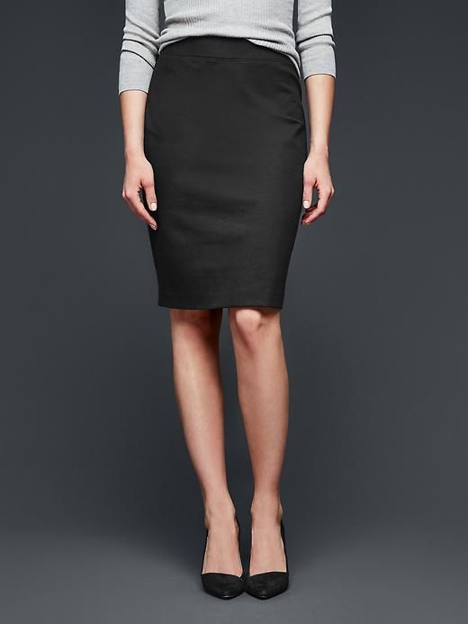 Ponte pencil skirt Product Image