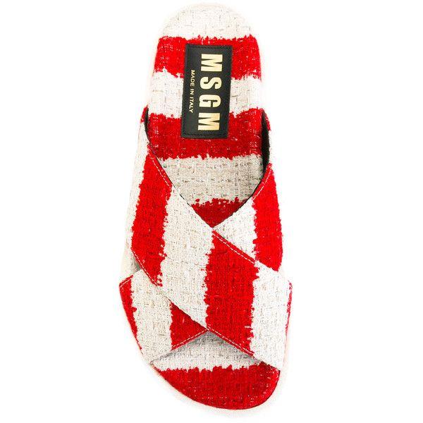 Msgm Envelopper Des Sandales Avant - Rouge 7Y0vNfdX6