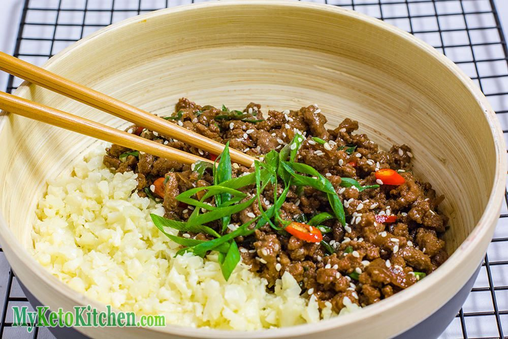 Low Carb Sticky Korean Ground Beef Stir Fry Minced Beef Recipes Ground Beef Casserole Recipes Beef Bowl Recipe