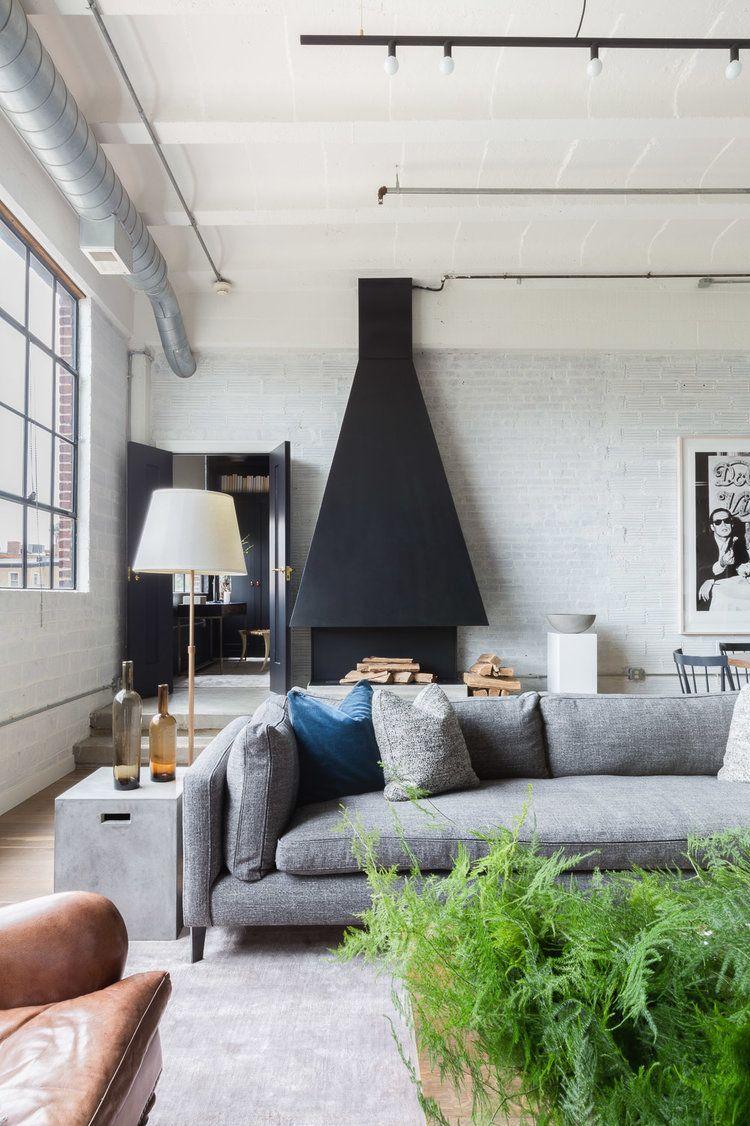Chic Industrial Layered Loft With Elle Decor Alyssa Rosenheck The New Southern Camera Da Letto Camera Salotto