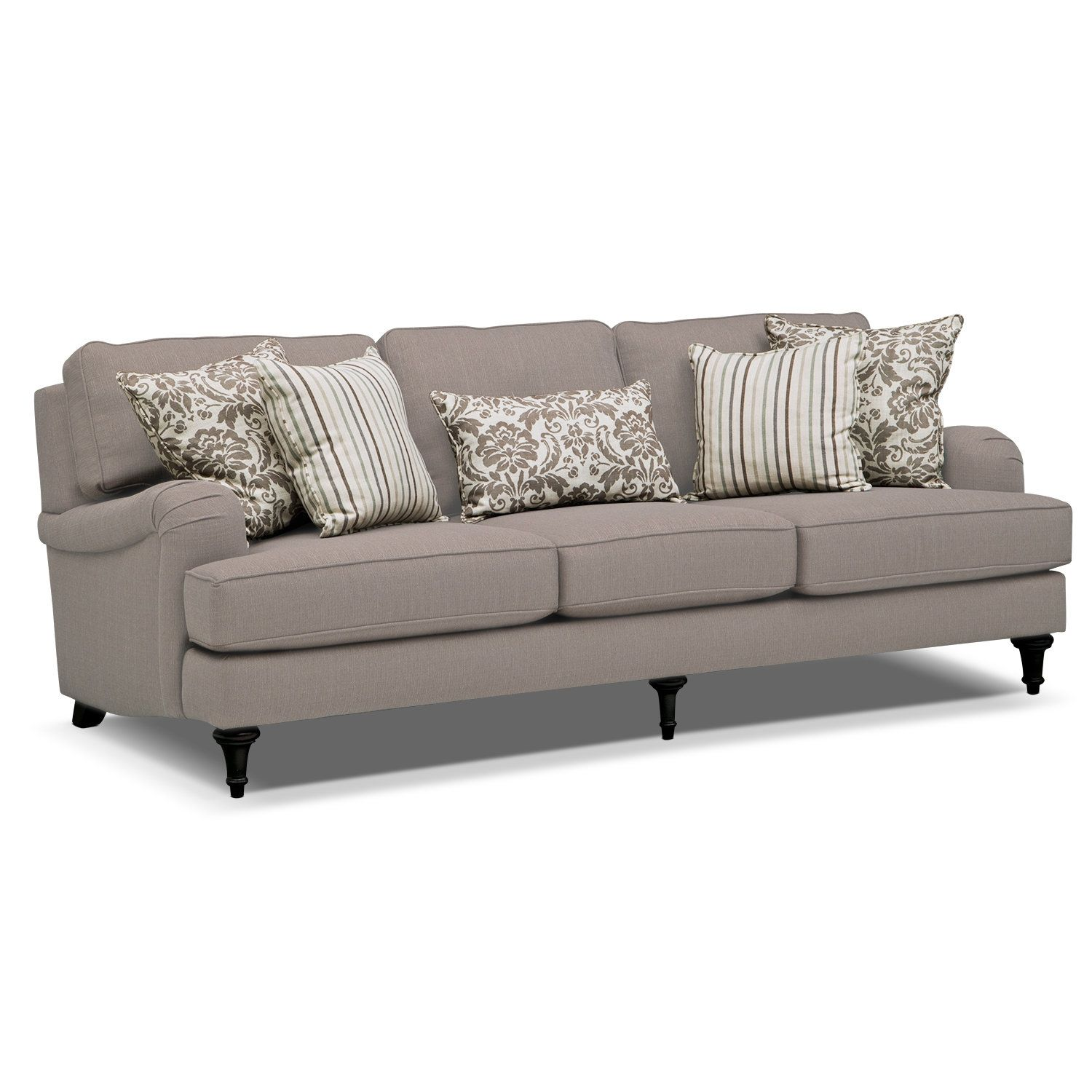 Candice Sofa Gray Value City Furniture furniture