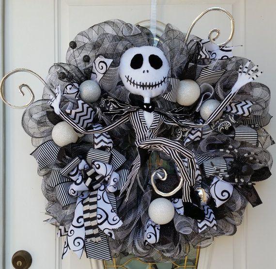 Jack Skellington Wreath, Nightmare Before Christmas Wreath ...