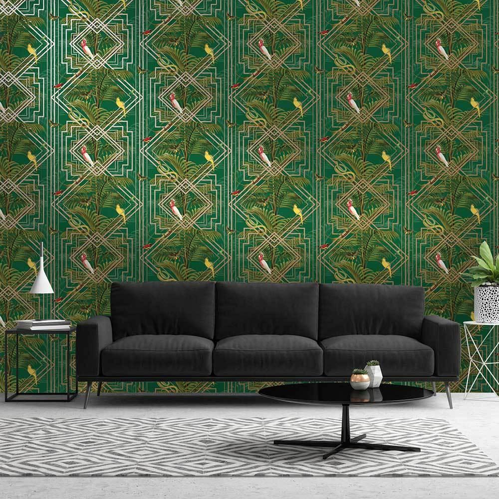 Akello Green Green Wallpaper Wallpaper Direct Albany Wallpaper