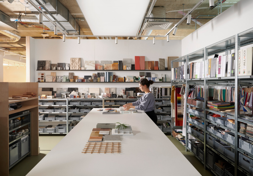 Universal Design Studio And Map Relocate To Office That Showcases Their Process With Images Universal Design Design Studio Office Interiors