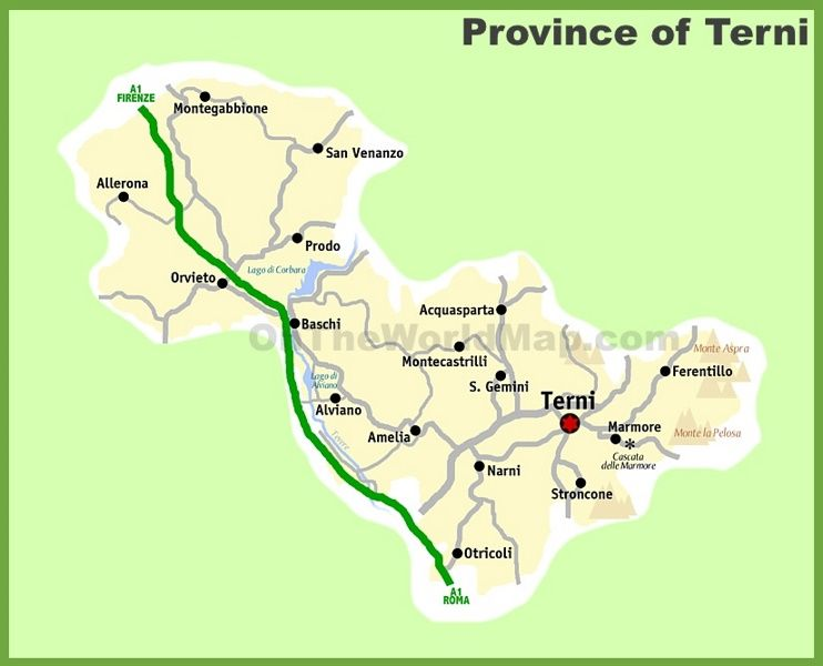 Province of Terni map Maps Pinterest Italy and City