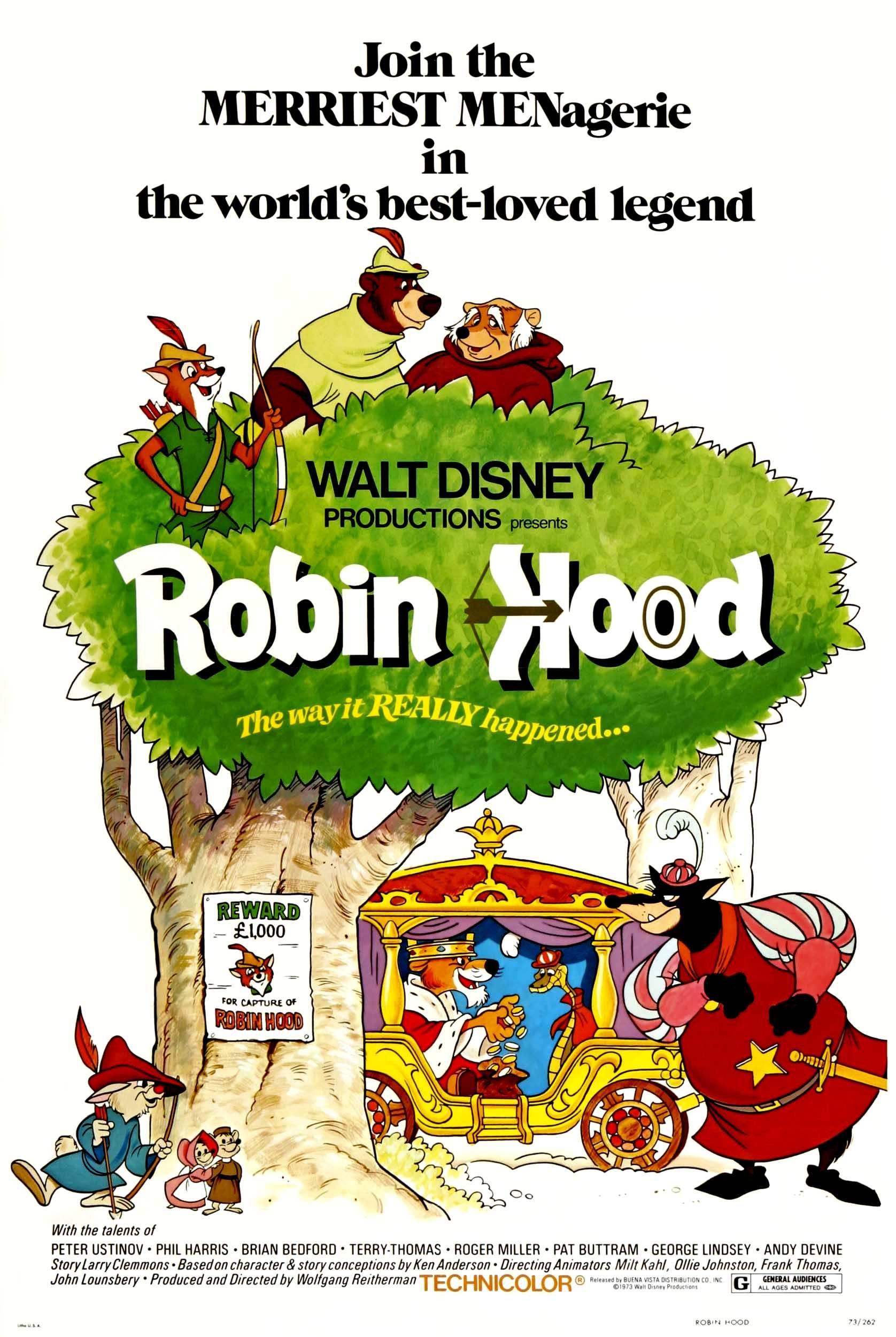 Robin Hood, 1973. | Disney posters, Disney movie posters