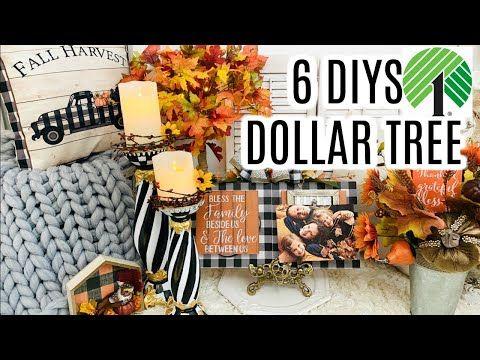 "🍁6 DIY DOLLAR TREE FALL ELEGANT HIGH END DECOR CRAFTS🍁"" I Love Fall"" ep 8 Olivias Romantic Home DIY"