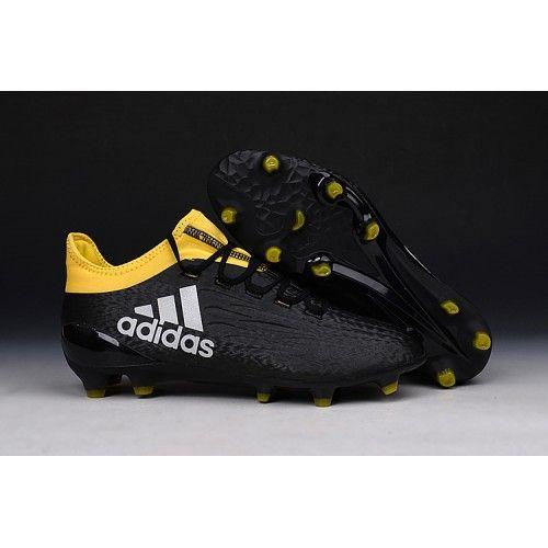 bf4bd7440440d Nuevas Botas Futbol Adidas X 16.3 FG Hombre Baratas Negras Amarillos Blancas