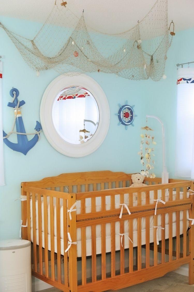 Fischernetz Deko Bringt Eine Maritime Stimmung Ins Haus Dekorationen Ideen Maritimes Kinderzimmer Kinder Badezimmer Fischernetz