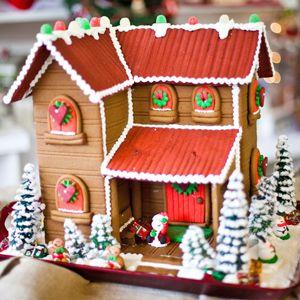 Custom Gingerbread Two-Story -- The Solvang Bakery Online Store